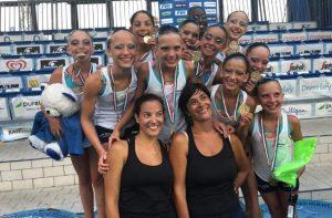 Squadra RN Legnano campionessa italiana nuoto sincronizzato Esordienti A