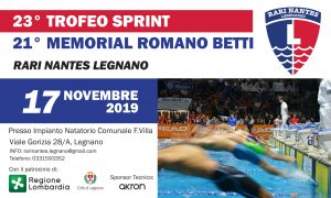 23° Trofeo Sprint - Memorial Romano Betti @ Piscina di Legnano