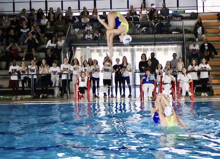 Squadra nuoto sincronizzato RN Legnano campionato regionale