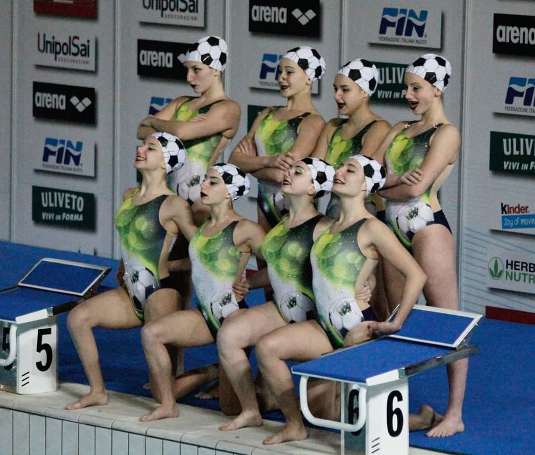 squadra RN Legnano nuoto sincronizzato Campionato Invernale Assoluto